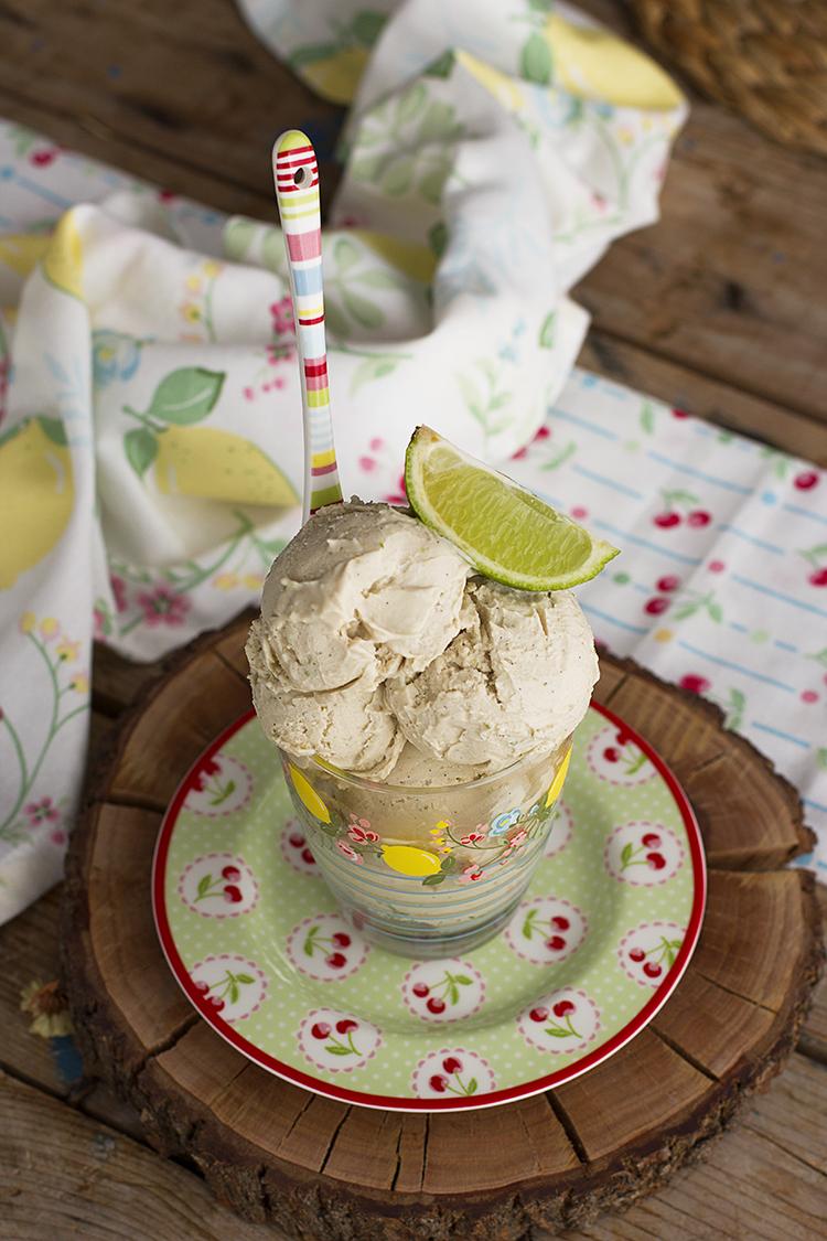 Helado de lima limón saludable el más cremoso de los helados veganos