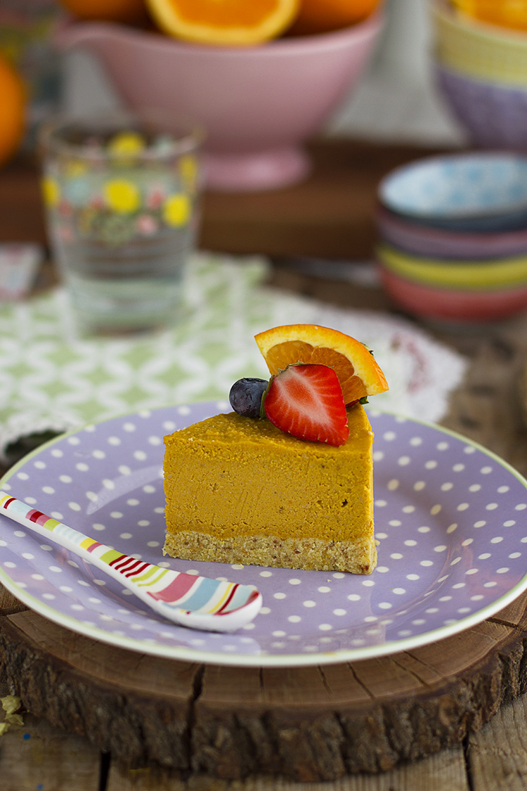 Tarta de Naranja Helada y Saludable rica y fácil de hacer