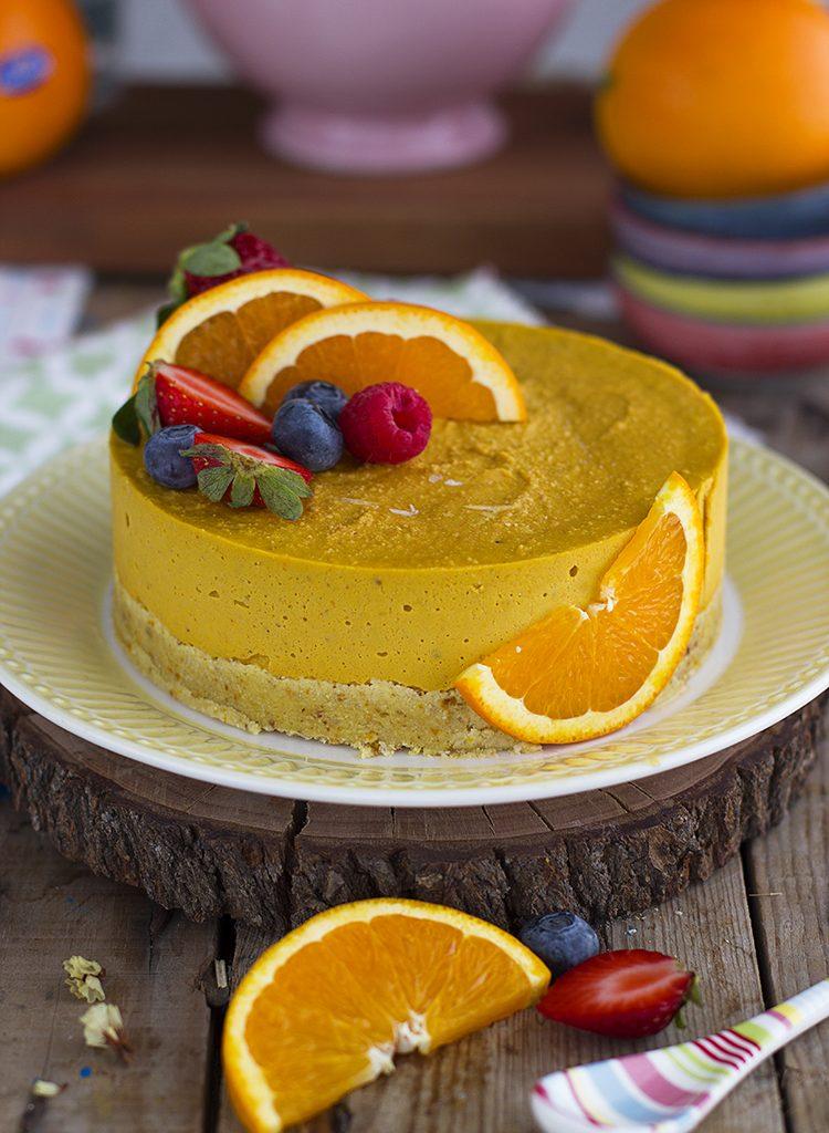 Tarta De Naranja Helada Y Saludable