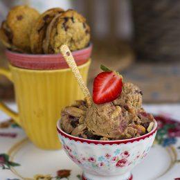 Helado De Cacahuete Y Fresas Con 4 Ingredientes Saludable