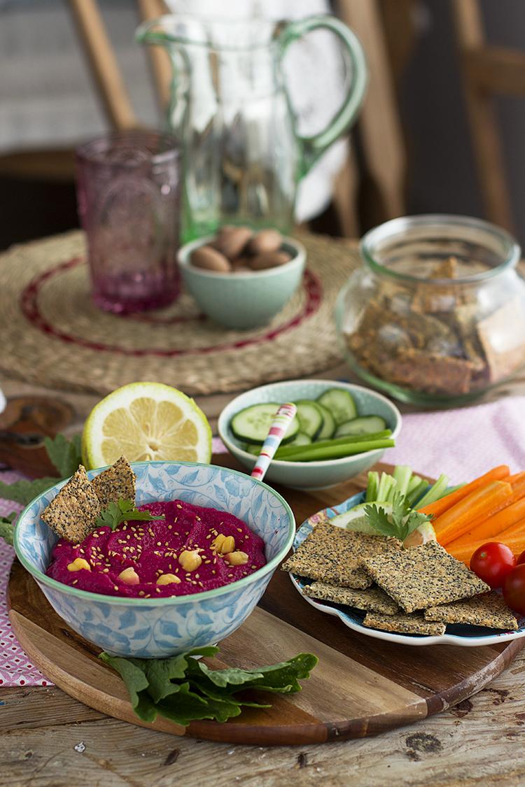 Hummus de Remolacha fácil en solo 5 minutos