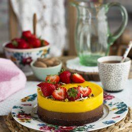Tarta Sin Horno De Mango Y Chocolate Healthy