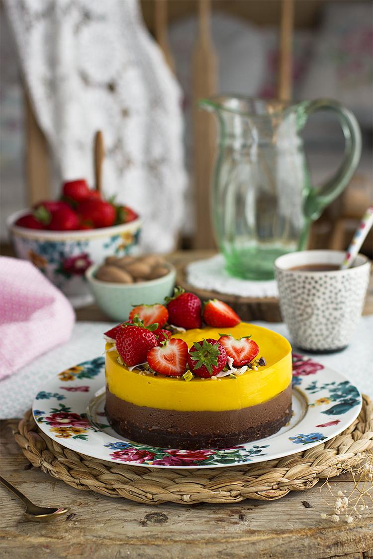 Tarta De Mango Y Chocolate 1