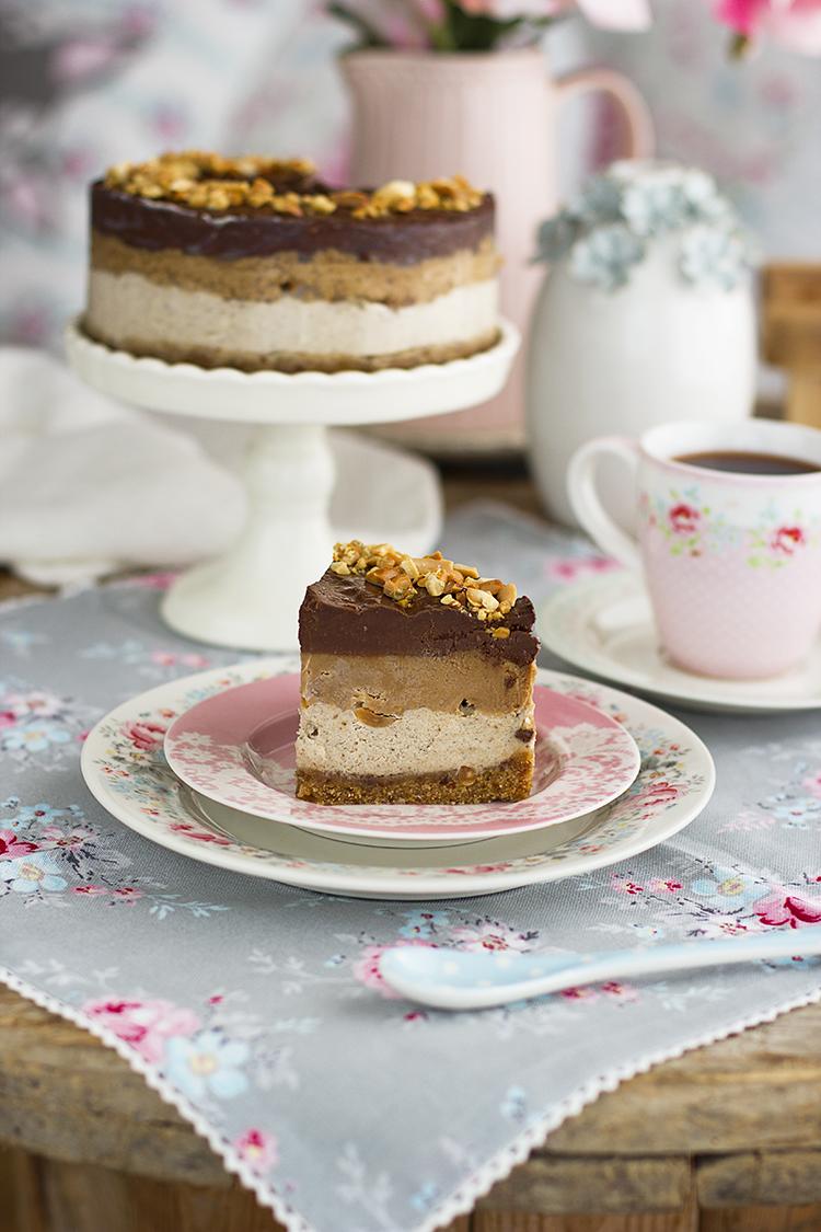 Tarta Snickers Saludable en tan solo 10 minutos ¡Increíble!