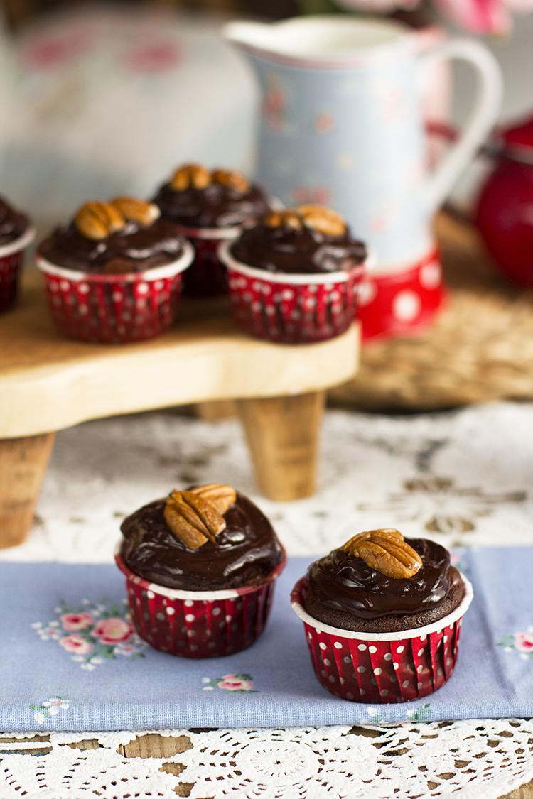 Magdalenas Doble Chocolate una receta sencilla rica y sin gluten