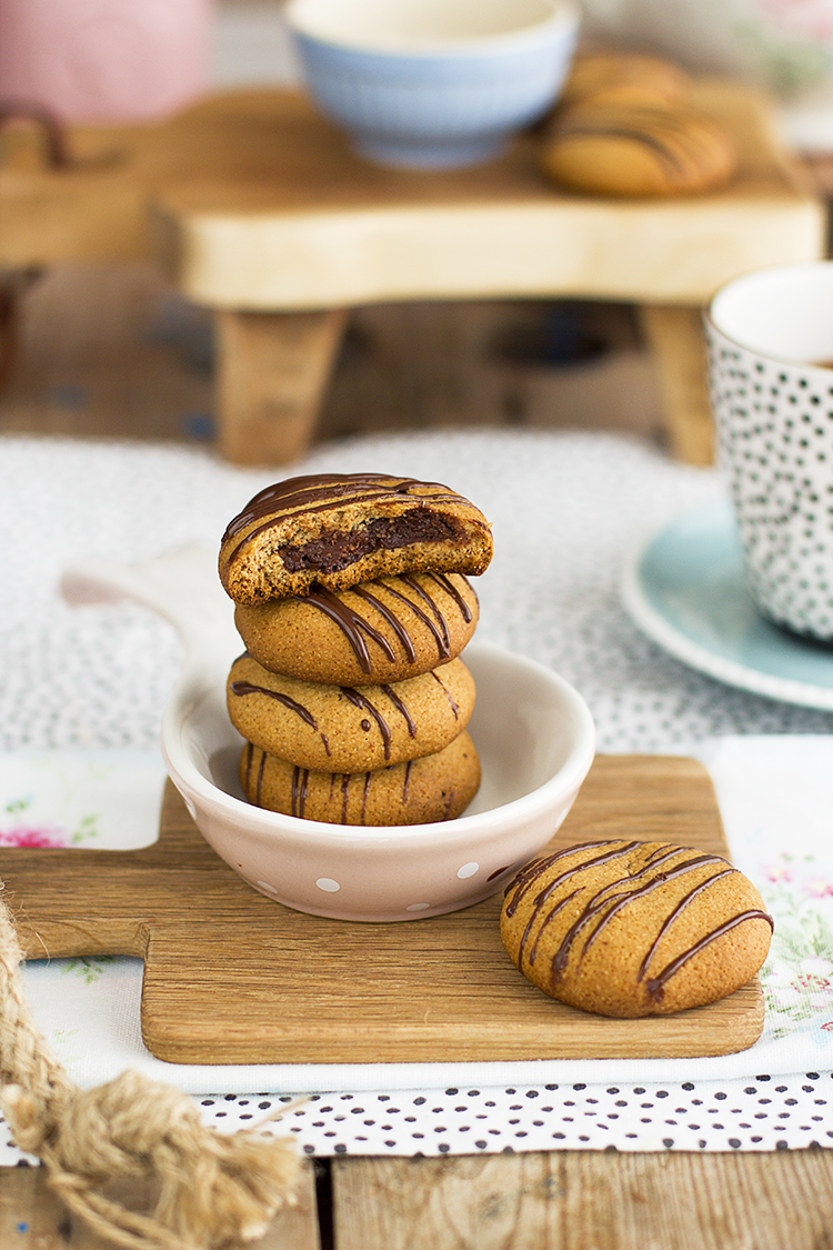 Galletas crujientes con Nutella saludables y super faciles de hacer