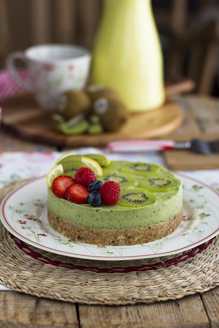 Tarta de Kiwis Fácil y saludable en solo 10 minutos