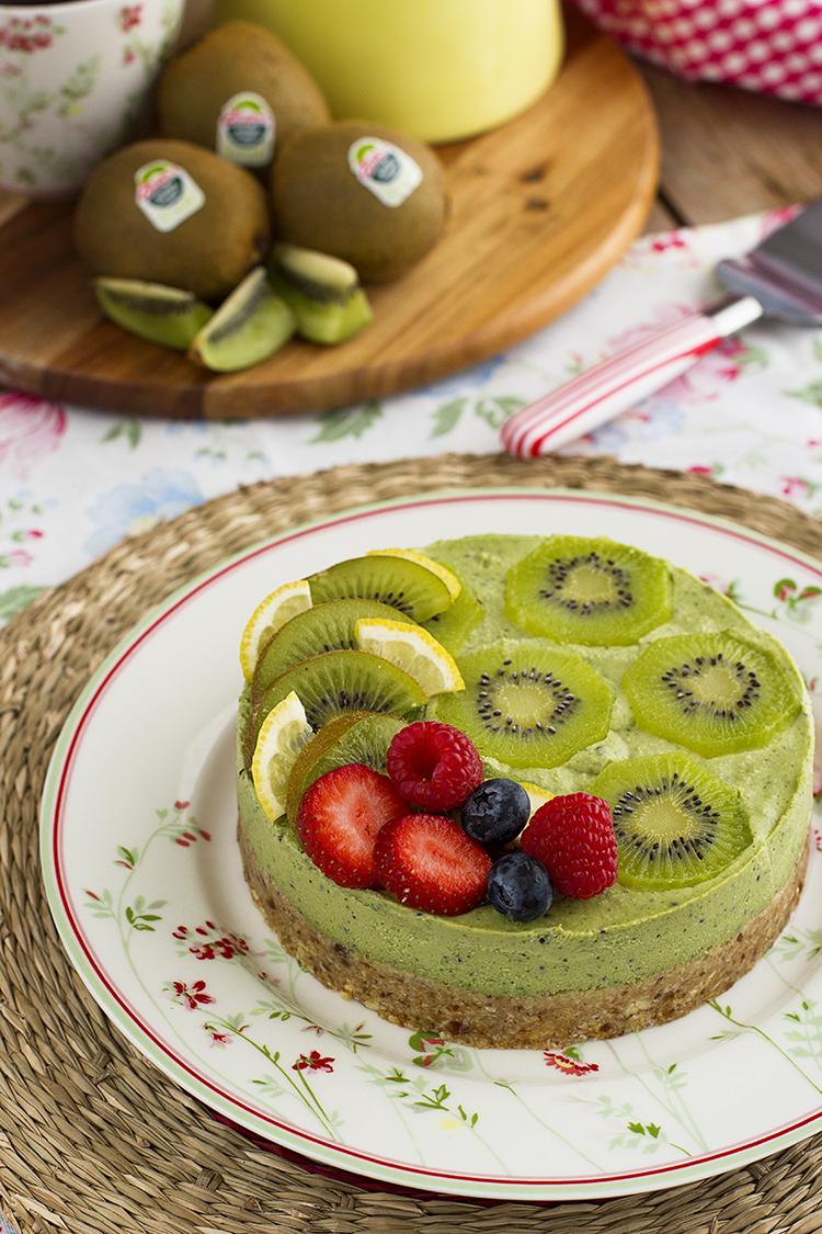 Tarta De Kiwis Fácil Y Saludable En 10 Minutos