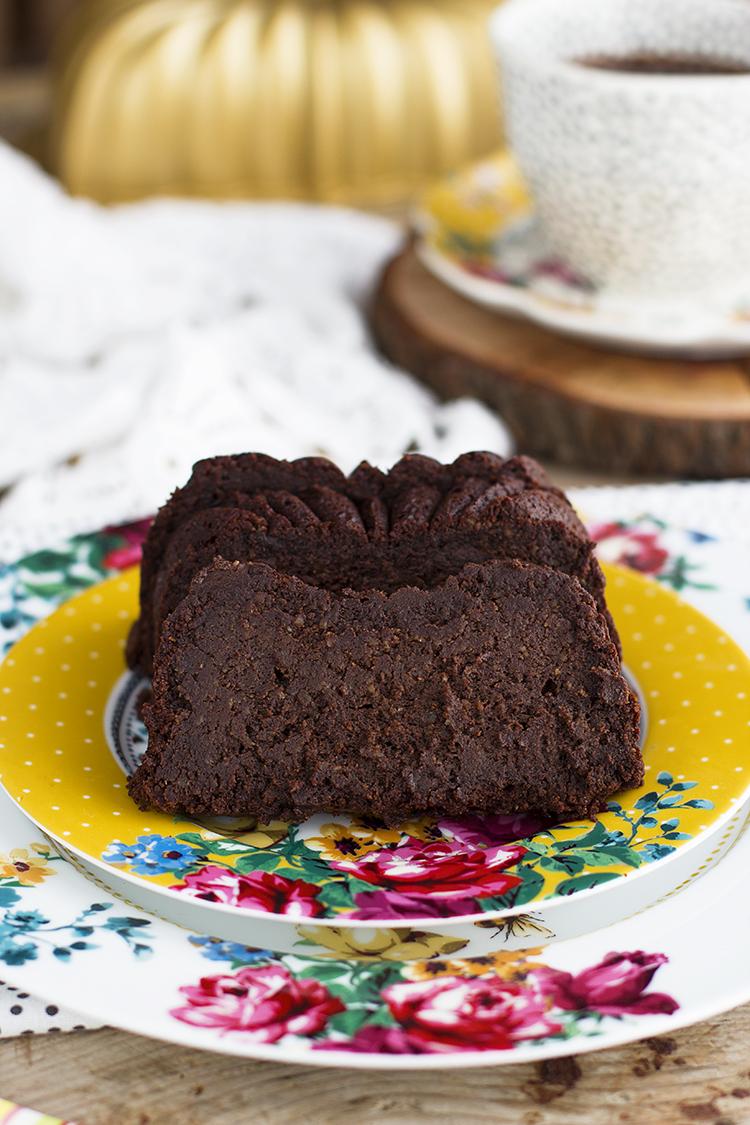 Pastel Fácil de Chocolate con solo 5 ingredientes y además saludable