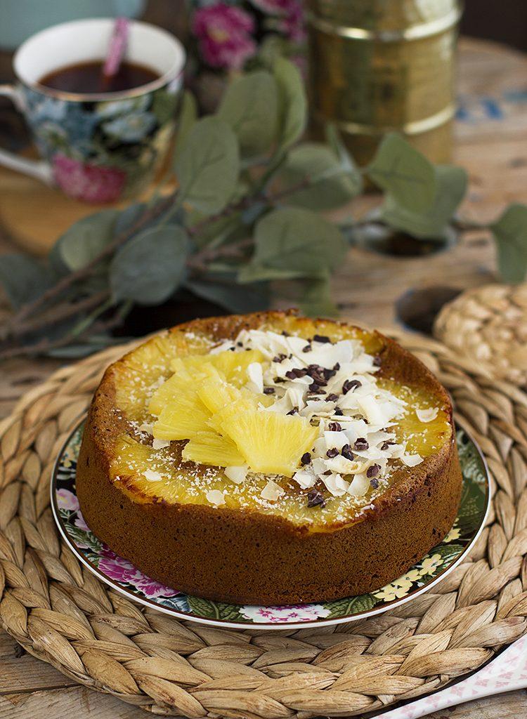 Plum Cake De Piña Colada Saludable