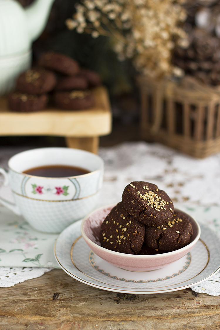 polvorones de chocolate saludables sin azúcar, sin gluten y saludables