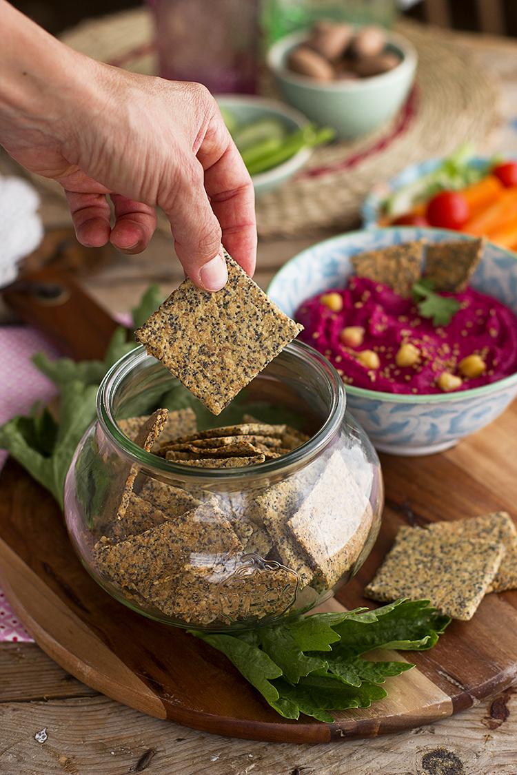 Crackers de semillas receta super sencilla, sana y crujiente