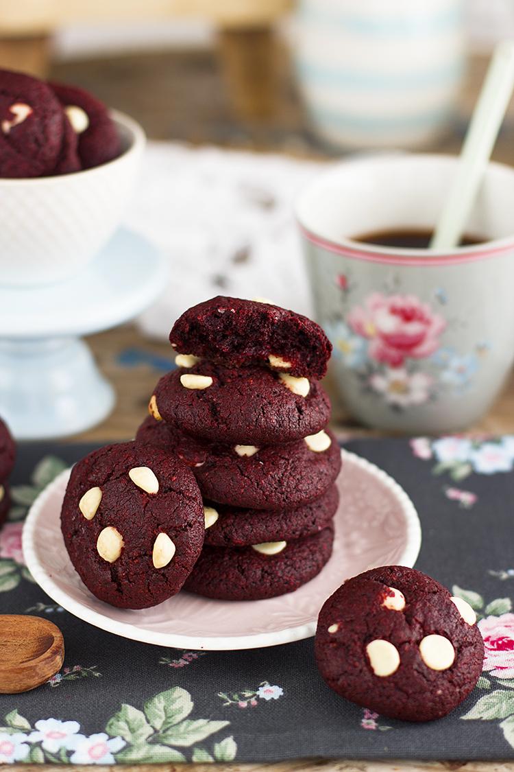 Cookies Red Velvet Saludables sin gluten y sin azúcar