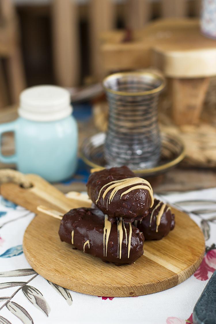 Magnum de Caramelo Salado y Almendras caramelizadas Saludables