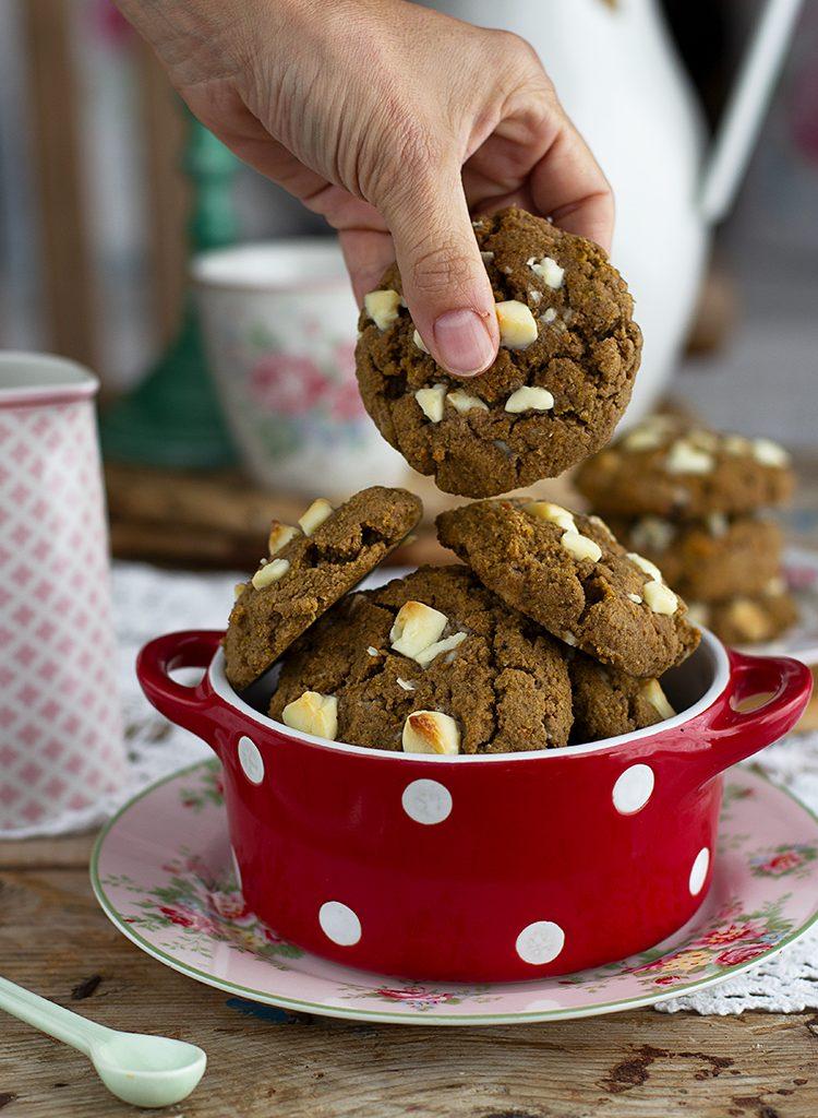 Cookies De Calabaza Turrón Y Chocolate Blanco