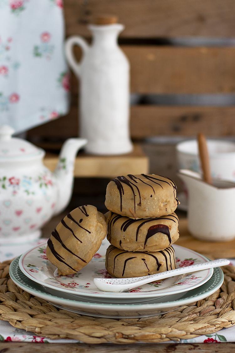 Impresionante combinación Donuts Bomba de Calabaza y Turrón, una verdadera tentación, delicado, suave, húmedo y riquísimo