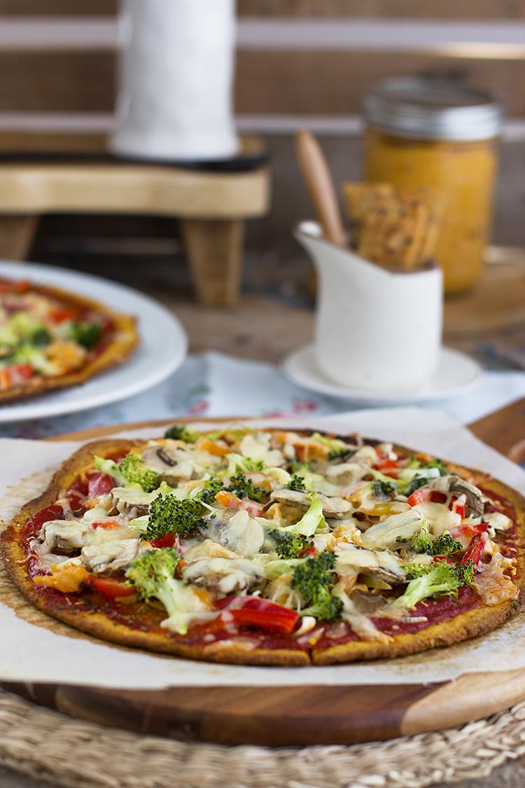 Pizza de boniato la receta de pizza más saludable y rica!
